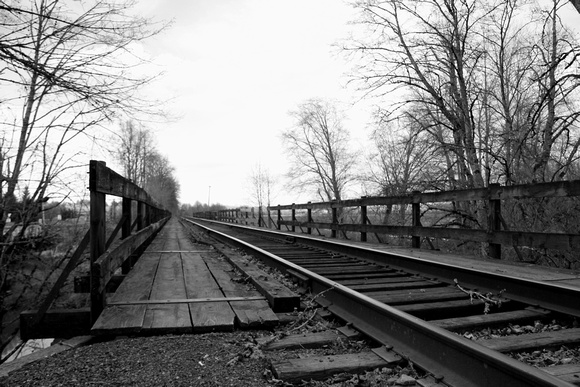 train tracks foot path bridge wanderlust journey travel
