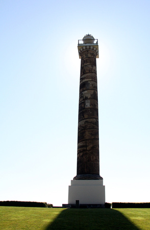 Astoria Column in shadow