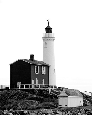 Fisgard Light in monochrome